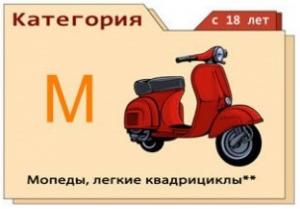 Категория М - мопеды, легкие квадроциклы